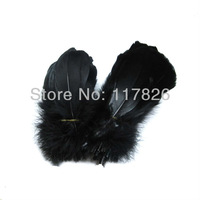 Free Shipping 200pcs a lot Black Soft Rod Goose plume feathers 5-7inches/13-18cm For Crafting RP-5