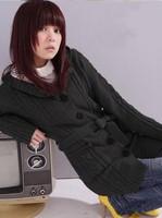 2013 new arrivel women's  hood sweater outerwear  long-sleeve cardigan sweet female's coat