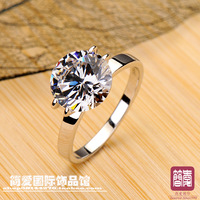 Stemped 950 NSCD 3 ct  ring women rings wedding rings jewelry with a certificate of high-end simulation