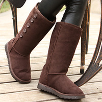 2012 winter snow cotton women's cotton-padded shoes thermal nubuck leather long-barreled gaotong boots