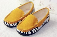 Brand New Fashion  Breathable Children Shoes Girls  Causal Flats Single Princess Shoes 3Colors Length 13.5-22.5CM