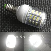 Free shipping by DHL 100pcs Warm White Spotlight 220V 3W E14 LED Bulb 48 SMD3528 LED Lamp Corn Light with Cover