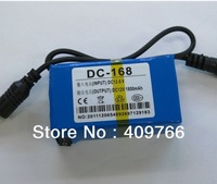 New Mini Portable DC-168 12V 1800mAh High Capacity Rechargeable Lithium Li-ion Battery for CCTV Camera Free Shipping