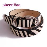 Sheenline classic leopard print horsehair zebra print genuine leather all-match women's cronyism strap cummerbund belt T