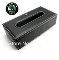 Free shipping high-grade leather Skoda Auto Leather Tissue Box Tissue Box