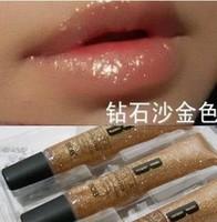 Free Shipping Wholesale  3pcs/ lot  Bob water lip gloss nude color r diamond gold chromophous ultrafine moisture bling