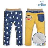 The New 2013 Children Boys Jeans Girls In The Fall And Winter Warm Soft Cotton Thickening Jeans Are Free Shipping 1408