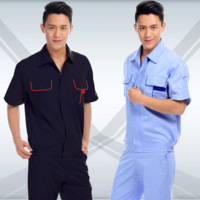 Gc038 work wear set male summer workwear short-sleeve tooling