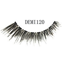 Box alinda handmade natural false eyelashes demi120 dishevelling turbidness cross