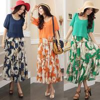Mm chiffon one-piece dress bohemia one-piece dress full dress plus size long skirt design beach dress