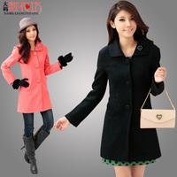 Woolen outerwear mm outerwear all-match medium-long formal plus size clothing overcoat