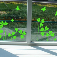 Clover decoration balcony sliding door glass stickers waistline tijuexian decoration applique wall stickers