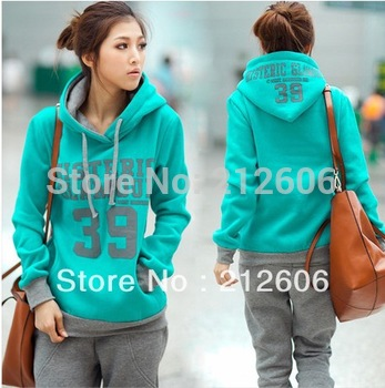 2013 New Fahion Korean Women Leisure Sports Hoodie &Set two-piece thickening of hoodies Suit  Sweatshirt Trousers Casual Sets