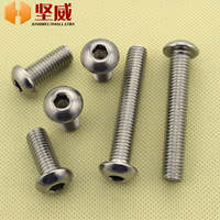 Free shipping!Authentic 2mm in diameter 304 stainless steel round mushroom head screws Hexagon Screw M2 * 4-12 pan head bolts