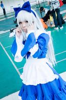 K Anna Kushina Cosplay Costume set lolita blue paragraph dress