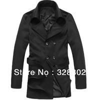 2014 new Autumn men's trench coat outdoor jacket long jacket men trench coat men winter men winter warm