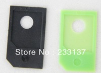 Free  shipping 50pcs Micro Sim Card Adapters MicroSIM adapter for iPad 3G For iPhone4 4s
