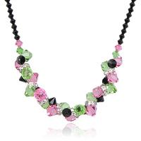 Cabinet lavender necklace accessories fashion gift crystal vintage fashion accessories short design