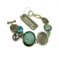 Free shipping+ fashion accessories sumni green oil vintage bracelet eq