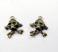 Free shipping!!!!! 200pcs 20*17mm Antique bronze color alloy skeleton pendant charms