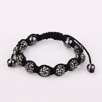 SBB119 holesale Free Shipping!10MM Handmade Disco Ball Beads Men Gift Crystal Shamballa Bracelet Fashion jewelry charm Bracelet