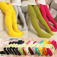 2013 autumn child clothing female candy color 100% cotton pantyhose legging stockings kz0204