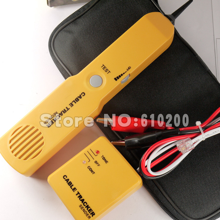 Free Shipping Telephone Network Phone Line Cable Wire Tracker Tester Toner Tool w/ RJ-45 Jack Patch Cord Tester Kit(China (Mainland))