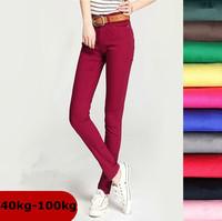 free shipping women's winter Plus size jeans high waist  pants skinny jeans 5XL