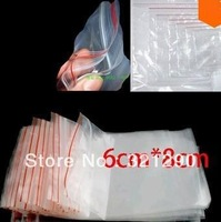 Free Shipping 400Pcs Self Sealing Zip Lock Plastic Bags 6x8cm/packaging bags factory wholesale