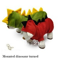 free shipping  large  pet dog  girl clothes for dogs 2013  harness pet products big dog clothing  t-shirt sale Small dinosaur