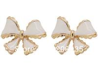 Fashion 18K Gold Plated Bowknot Earring butterfly Earring