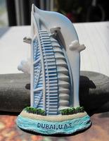 Burj Al Arab Hotel Handmade Cold Porcelain Colored Drawing Memorial Tourism Dubai  Souvenir Gift Fridge Magnetic Stickers