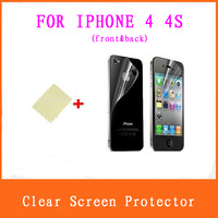 50PCS Full Body Ultra HD clear Screen Protector LCD Protective Film Cover for iPhone 4 / 4S ( FRONT&BACK )