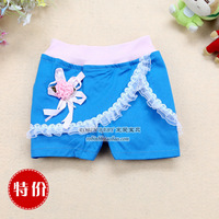 Children's clothing 2013 female child summer shorts pants child knee-length pants 100% cotton summer casual pants