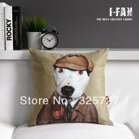 Wholesale!Free shipping 1 PCS Retro Vintage Home Pillow cover Holmes Plush cushion cover 45CMx45CM