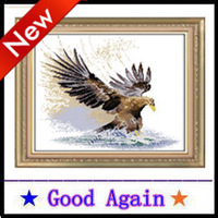 Cross Stitch 2013 new 100% accurate printing Full Eagle Europe and home decoration Cotton Manual 80X57cm Free Delivery