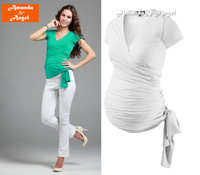 2013 new Star style maternity clothing Short-sleeved T-shir autumn fashion maternity blouse brand Design  tops