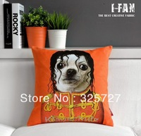 Wholesale!Free shipping 1 PCS Retro Vintage Home Pillow cover MJ PILLOW Plush cushion cover 45CMx45CM