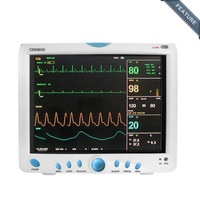 EMS Free Shipping CMS9000 6-Parameter TEMP, PR, RESP, ECG, SPO2, NIBP Digital Medical ICU Patient Monitor