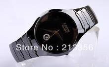 USA HOT SELLING E C TUNGSTEN JEWELRY WOMEN MENS BLACK CERAMIC WRISTWATCHES HIS OR HER BEST