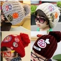 Winter, children hats labeling wool hat family cap male virgin child baby crothet hat Bag mail