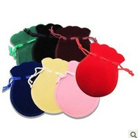 7 Colors100% Guarantee Velvet 200Pcs/lot Fashion  pouch Gift Bags Packaging Bag Cookie Jewelry 7*9.5CM handles hot Free Shipping