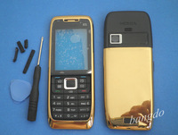Gold MOBILE REPLACEMENT HOUSING COVER CASE +KEYBOARD FOR NOKIA E51