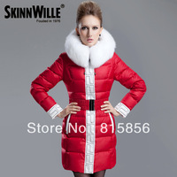 Free shipping,2013 thickening medium-long plus size slim down coat female 71067