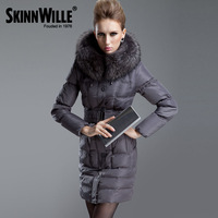 Slim fashion medium-long 2013 thickening luxury large fur collar down coat female