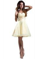 Bonnobridal Lovely Mini Strapless Chiffon Beading New Summer Cocktail Dress