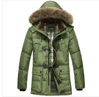 Free shipping new Winter  real fur collar long sleeve down jacket brand down jacket S-XXXL   top quality
