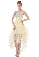 Bonnobridal Amazing Attractive One Shoulder Short Cocktail Dress With Sequins