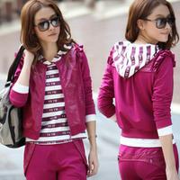 Autumn Women sportswear casual sports sweatshirt female long-sleeve sports clothing set