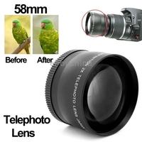Brand New 2X 58mm Professional Metal Material Telephoto Lens for Canon 350D/ 400D/ 450D/ 500D/ 1000D/ 550D/ 600D/ 1100D